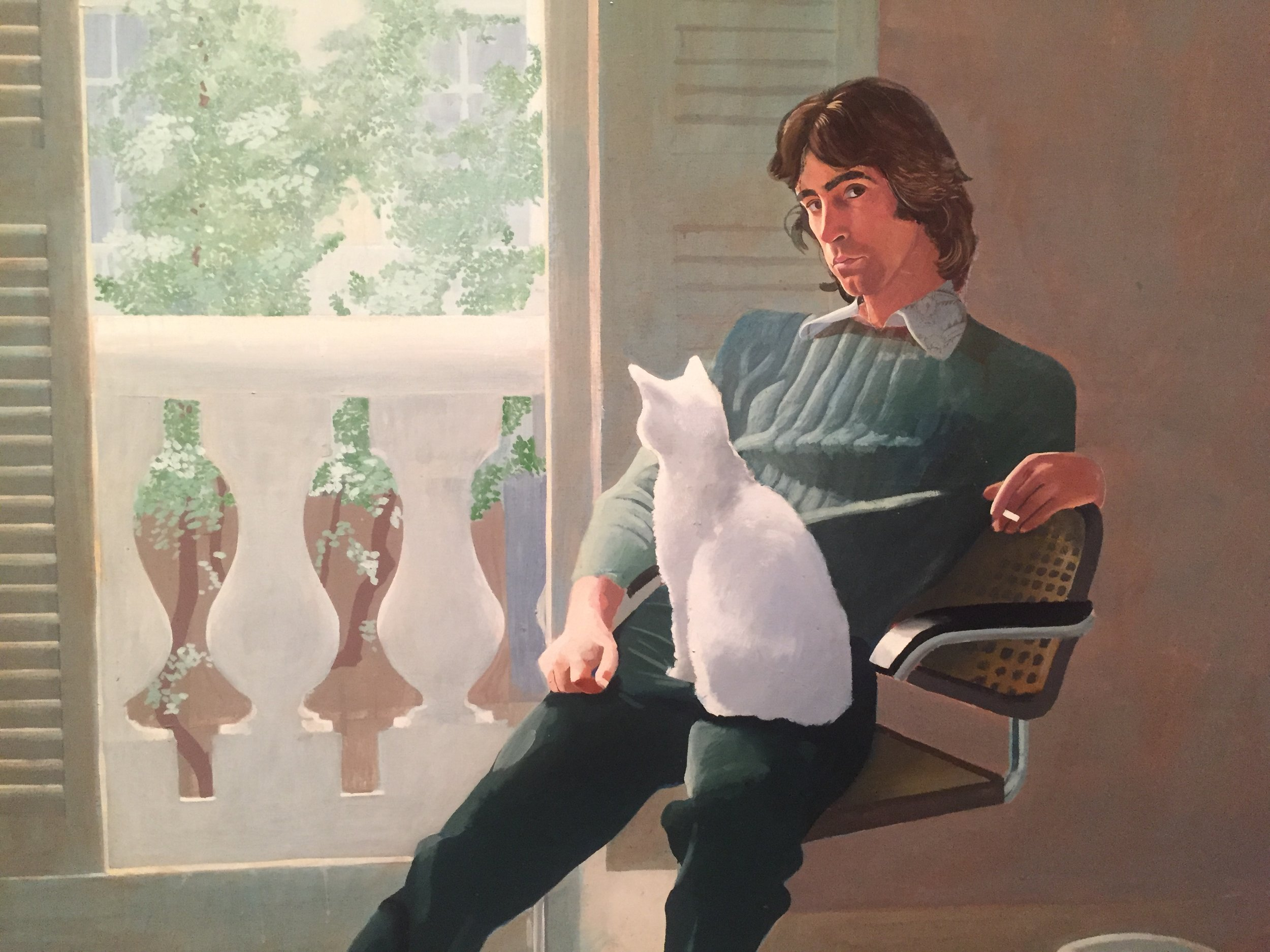 David Hockney Cat Painting detail.JPG
