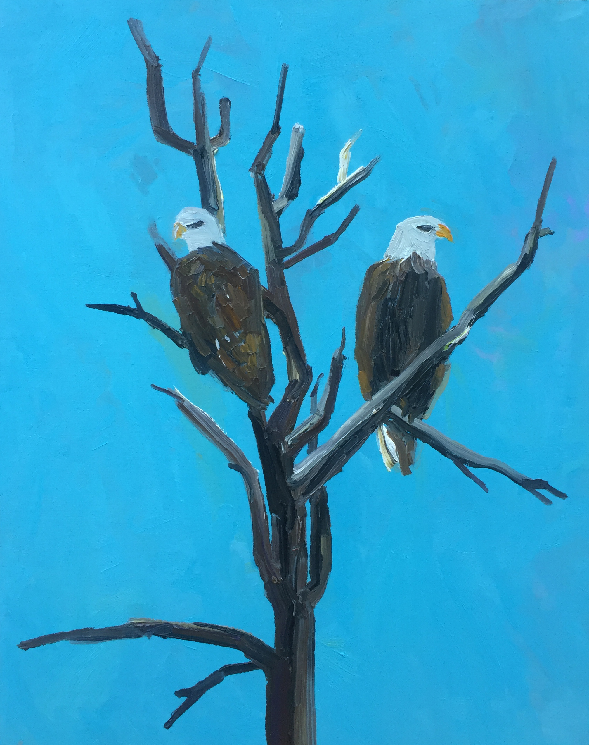 eagles on a dead tree painting becky jewell.jpg