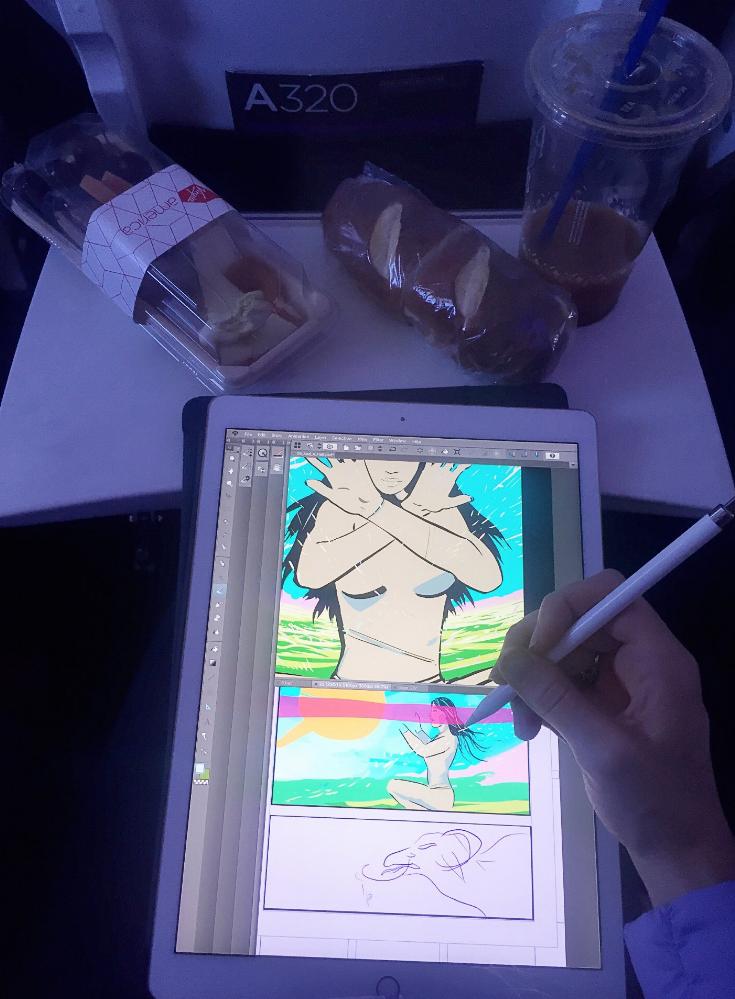 comic book art virgin airlines ipad pro.png