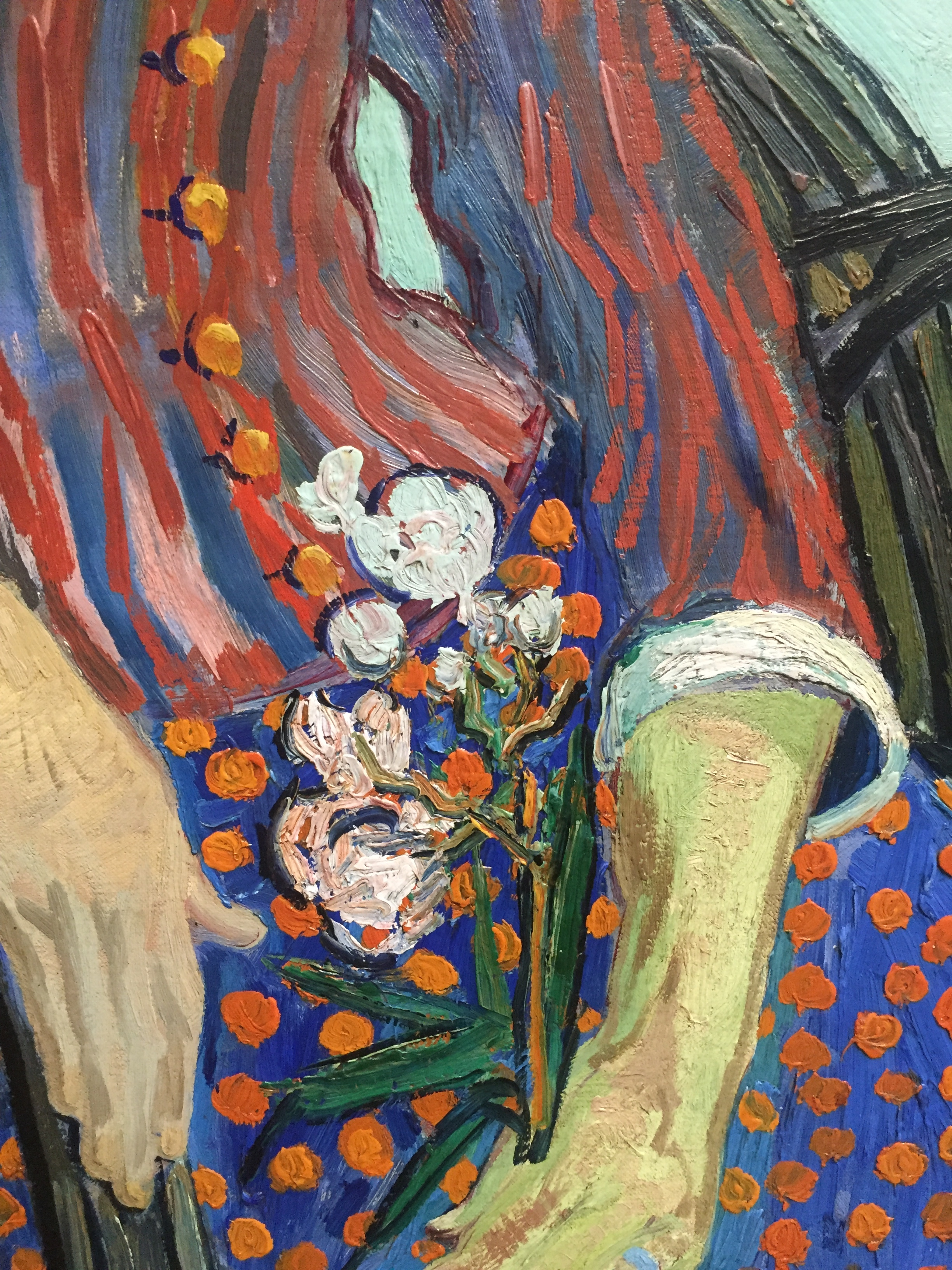van gogh red dress flower detail.JPG