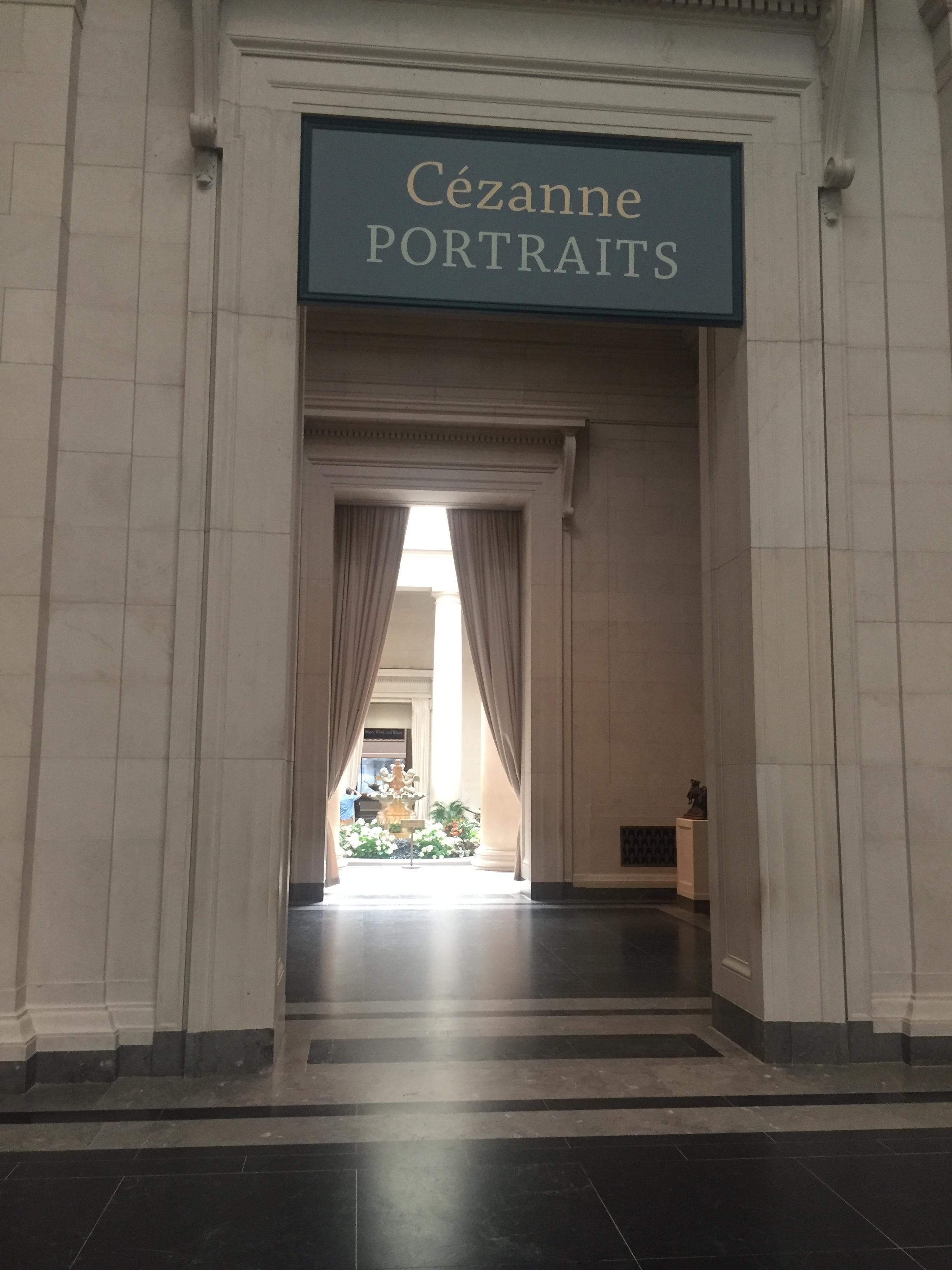 cezanne portraits national gallery hallway 2018 washington dc.JPG