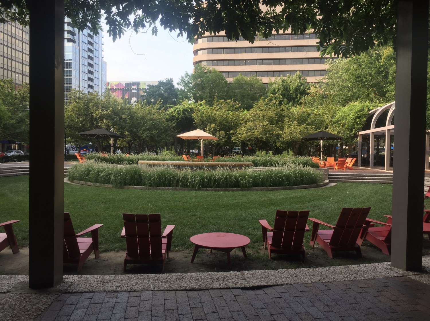 Even in the summer, Crystal City seems empty but not in a bad way.