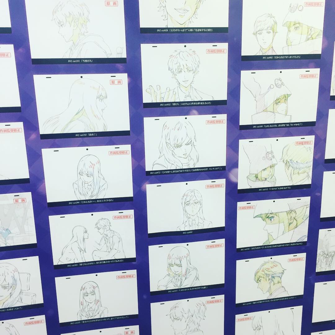 akihabara animate store display of animation sketches.JPG