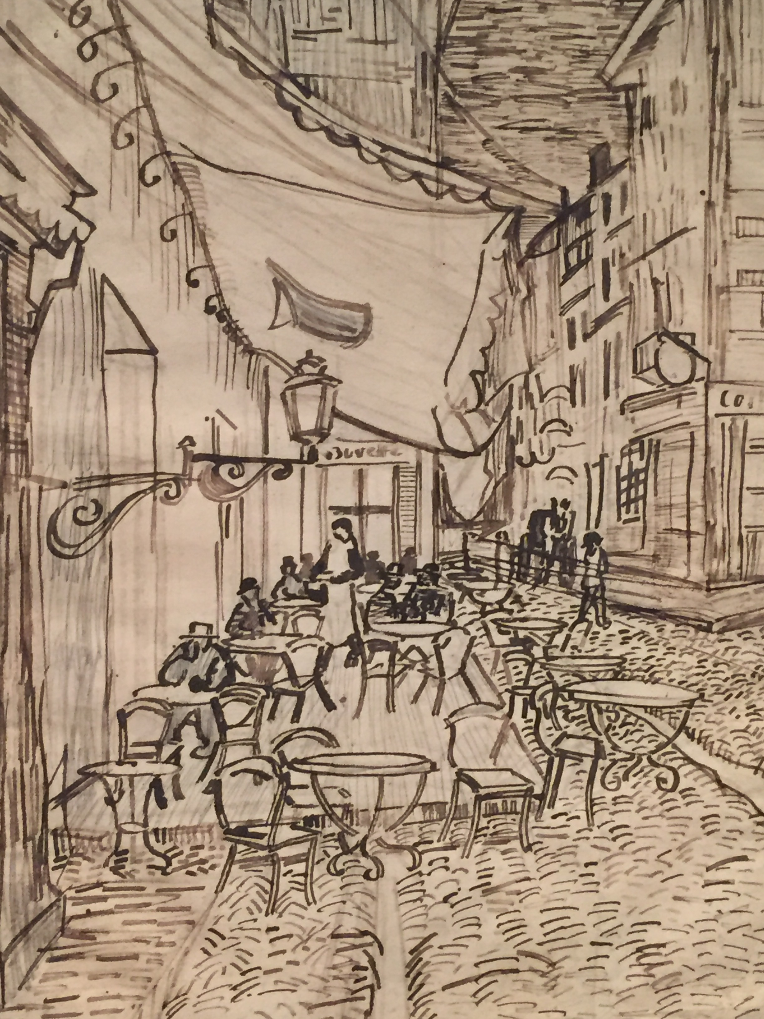 van gogh parisian cafe sketch houston.JPG