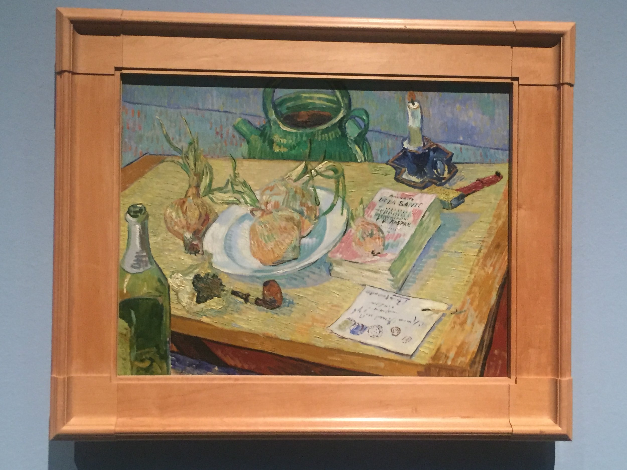 vincent van gogh still life with a plate of onions houston.JPG