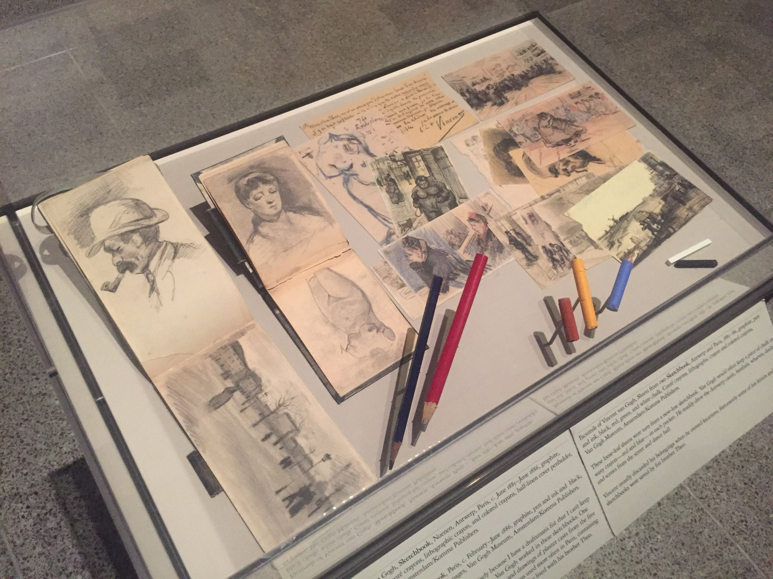 facsimile of vincent van gogh sketch books.JPG