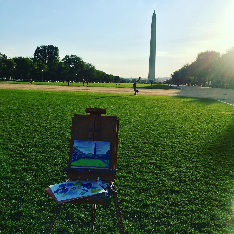 painting the washington monument.JPG