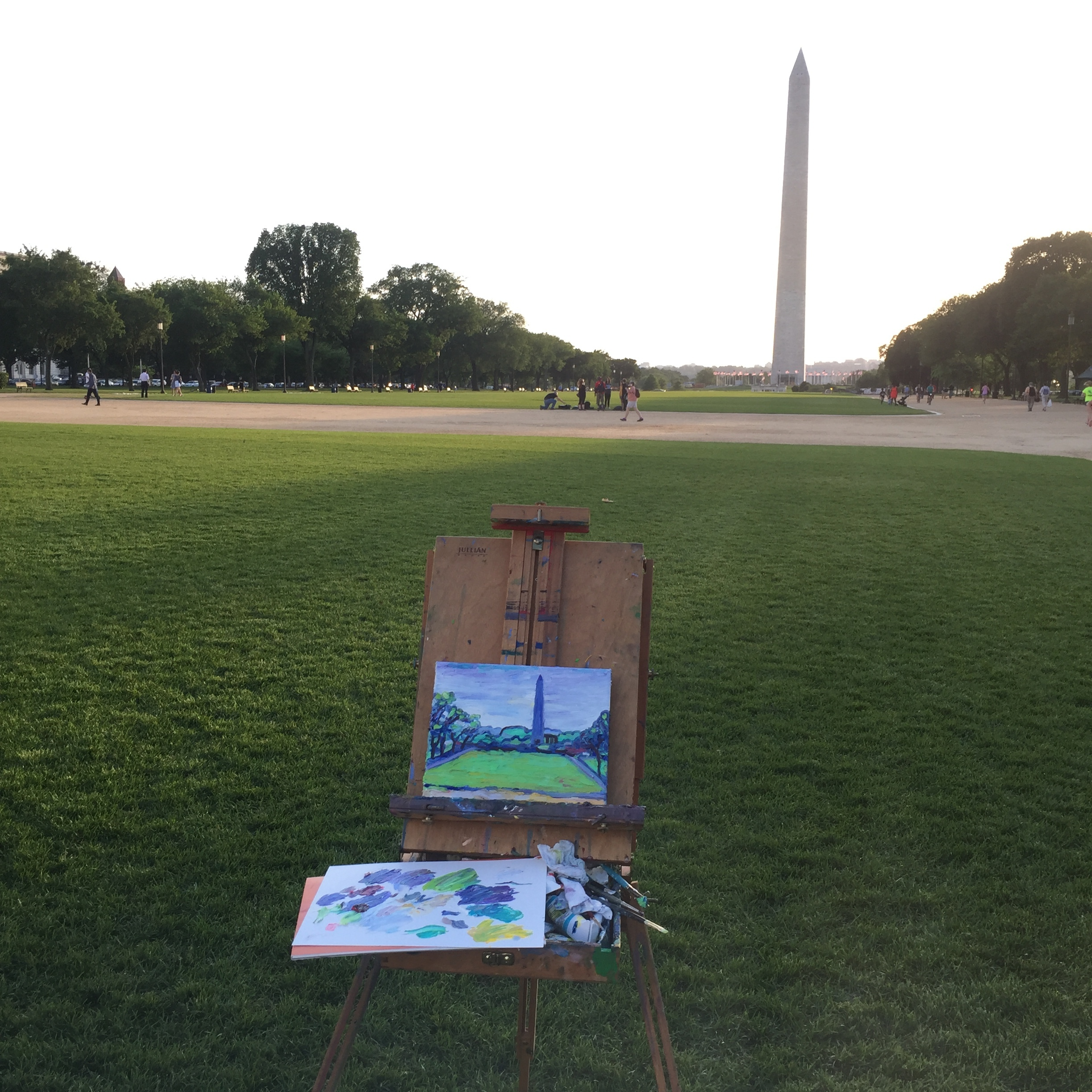 painting the washington monument becky jewell.JPG