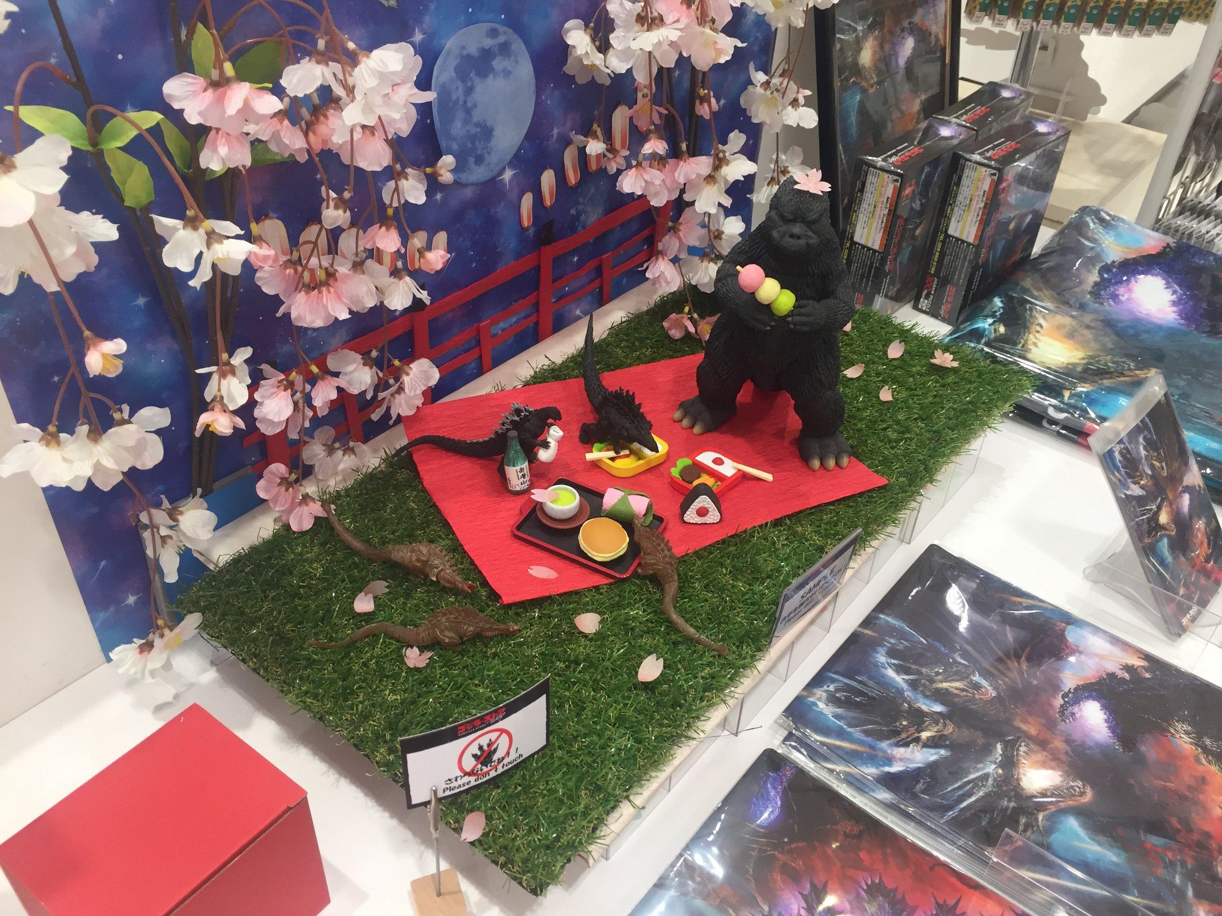 godzilla store cherry blossom display.JPG