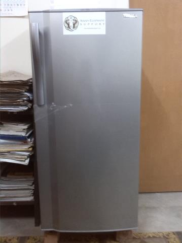 Refrigerator donated by AES to store elephant medicine and samples