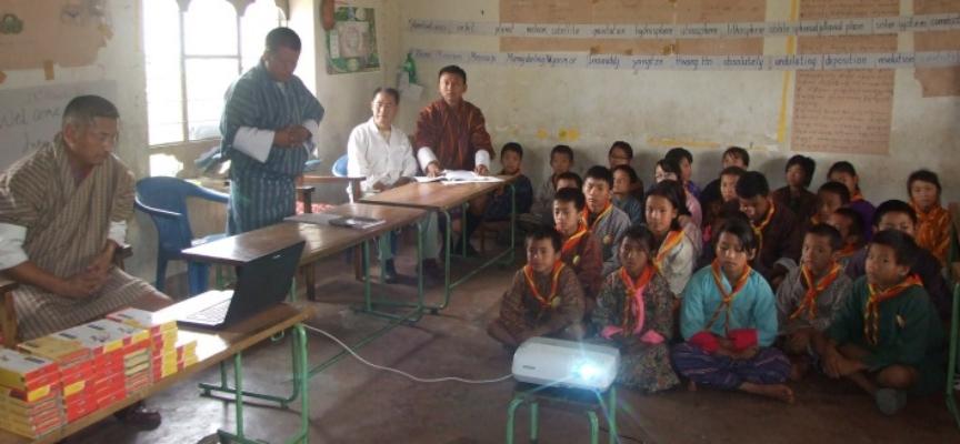 Human Elephant Conflict workshop for children in Bhutan