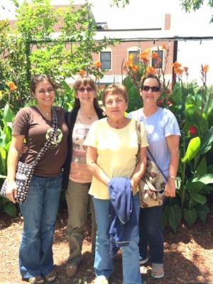 From left: Secretary Vanessa Gagne, director Barbara Davis, President Linda Reifschneider, and Vice President April Yoder