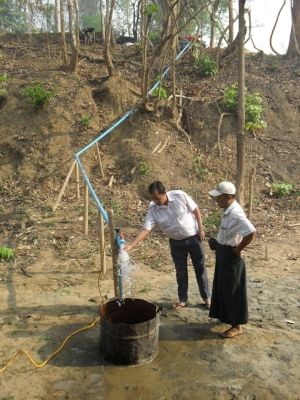 Water system for hospital, school, and homes