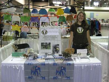Volunteer Erin Johns at the Asian Festival, Richmond Virginia, 2013