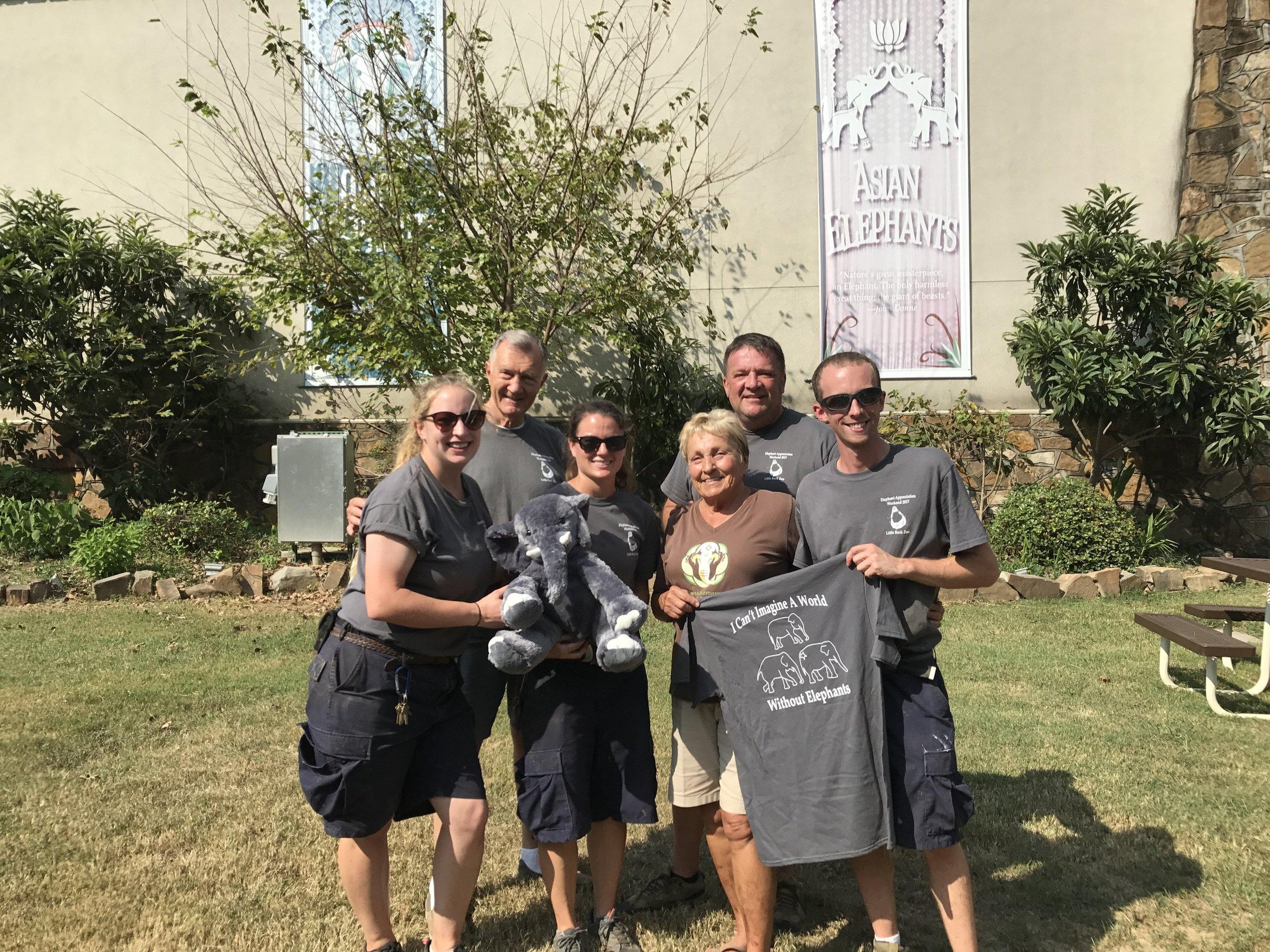 Linda, Carl, and the LRZ Elephant Crew