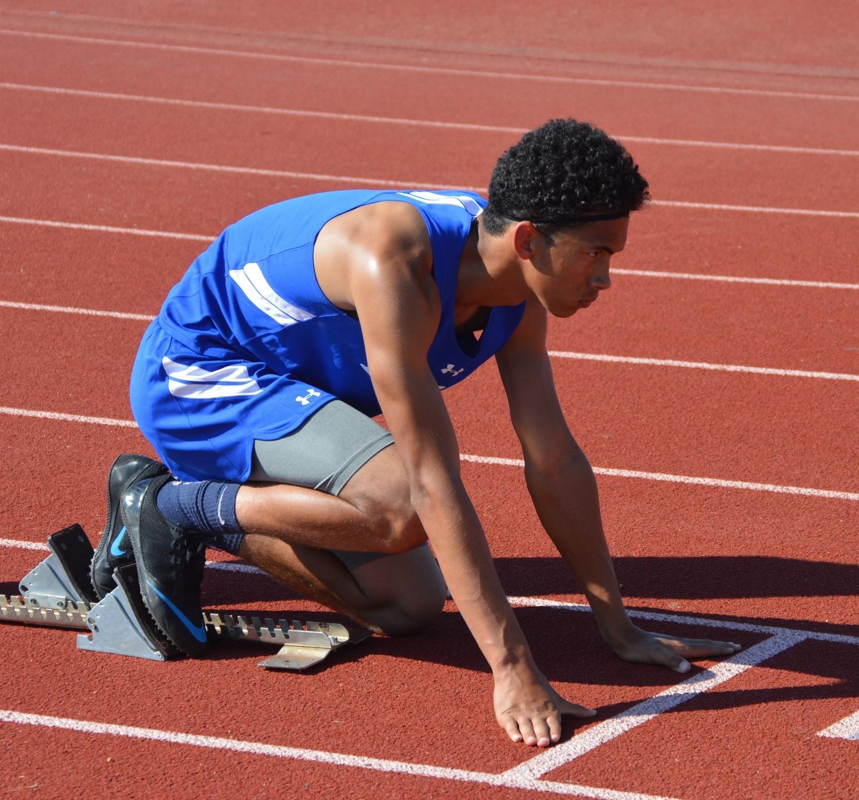 Runner Zel Molino in the finals. Photo: Hillary Streich