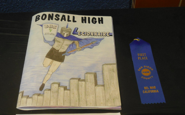 Bonsall HS yearbook receives first-place ribbon at fair