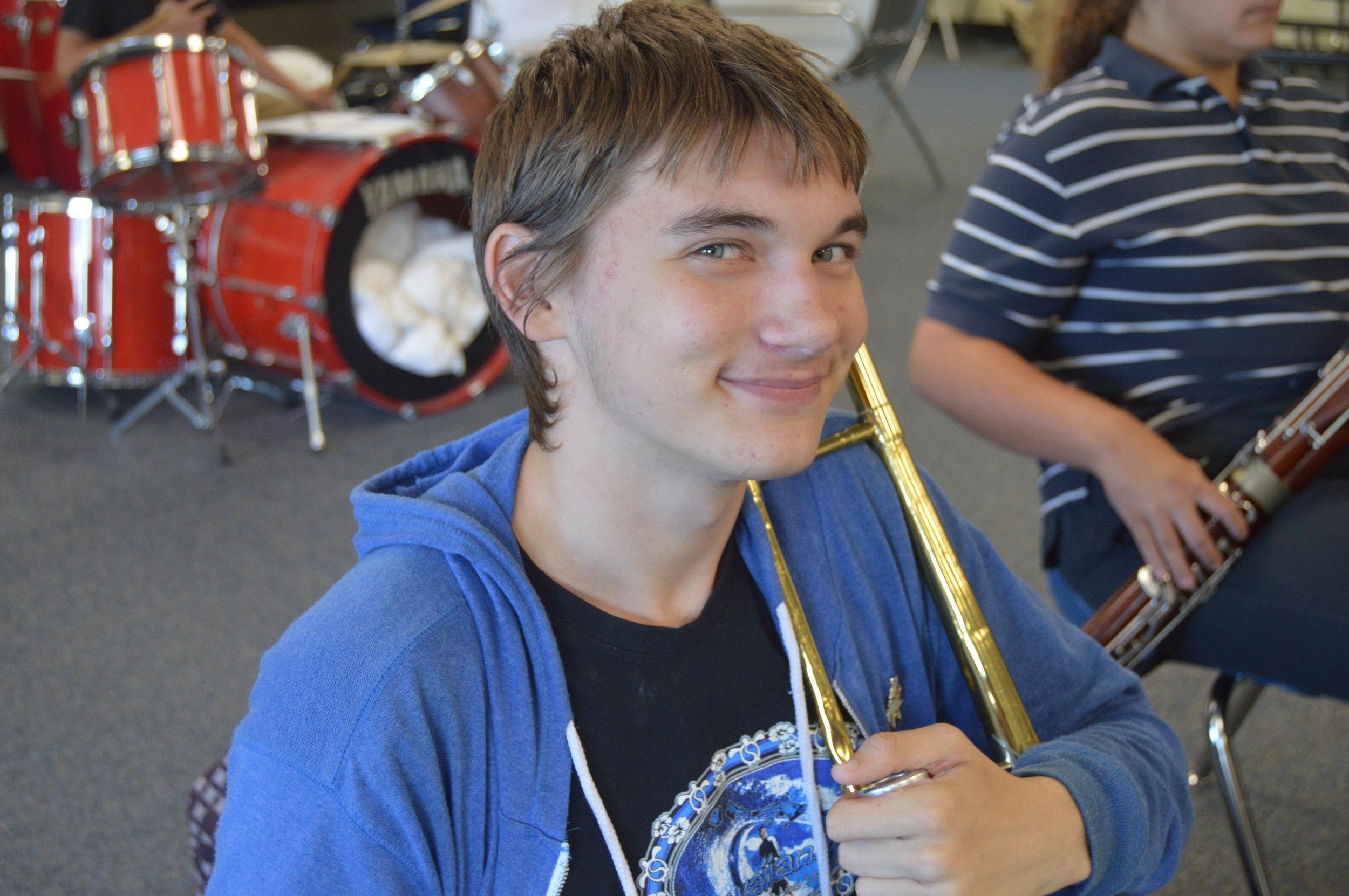 Student Trombone Player