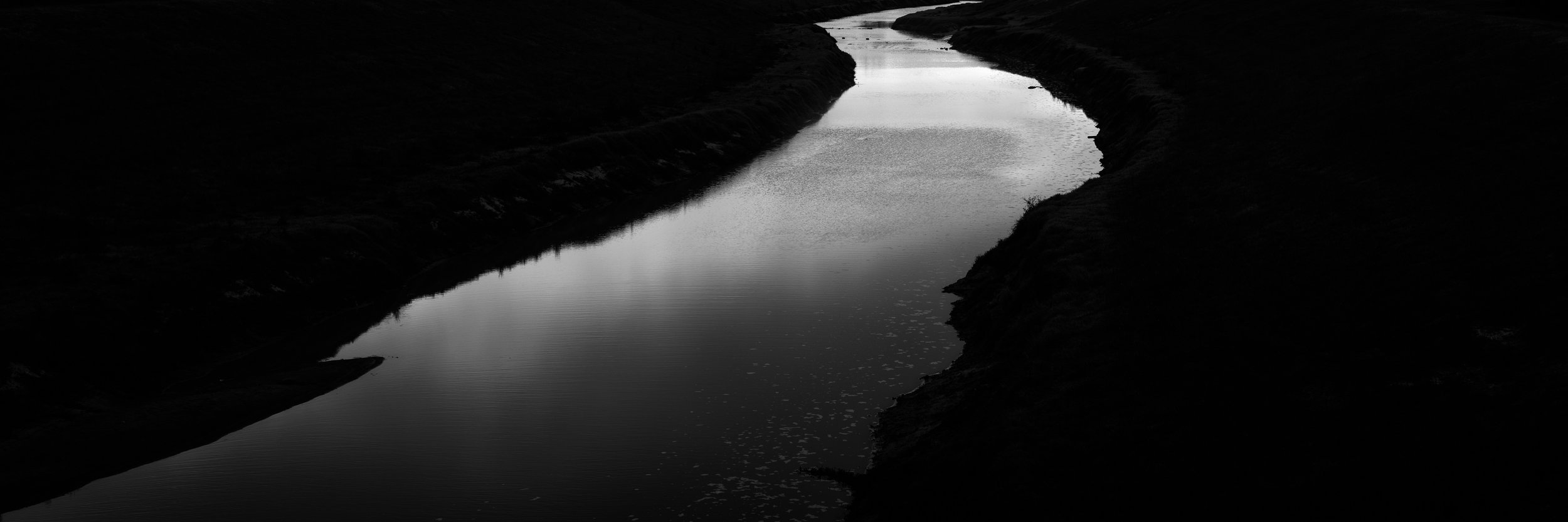 panoramas - Black and white abstract landscapes