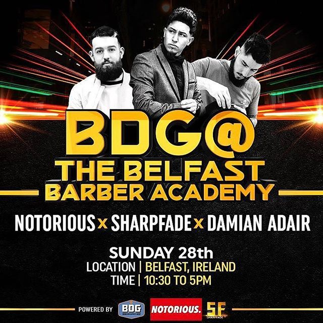 Sunday May 28th we will be hitting up Belfast @themanshack for an action packed seminar with @notoriousbarbers @sharpfade & @theemensroom  Price £70 - look and learn £130- look and learn + practical  Advanced modern hairstyles Pattern/Designs Social media masterclass Business growth + monetization Waxing + enhancements Brand building/Marketing Photography Motivation  Lunch included also. Limited places available already, To book DM/mail -Email- barberdevgroup@gmail.com