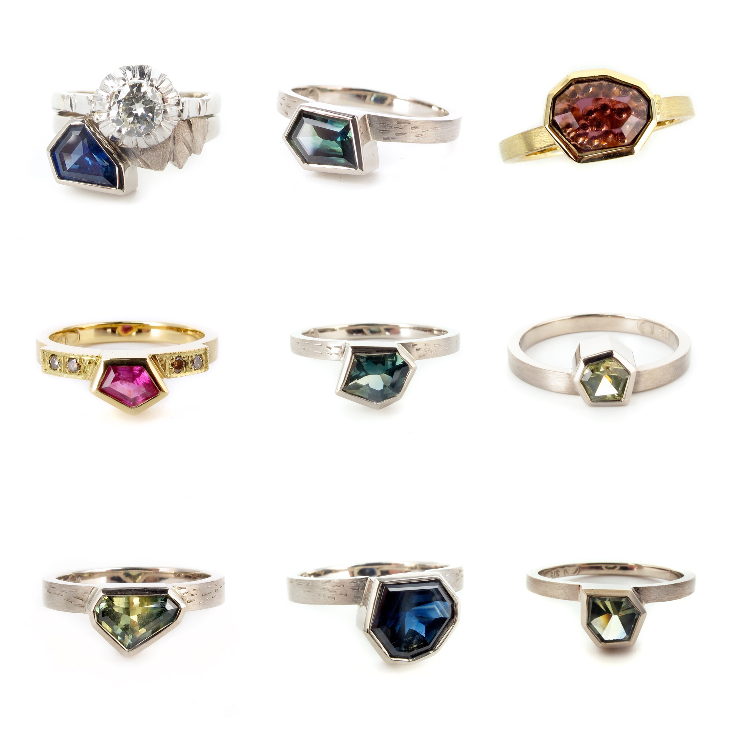 freeform engagement wedding rings sapphire australia