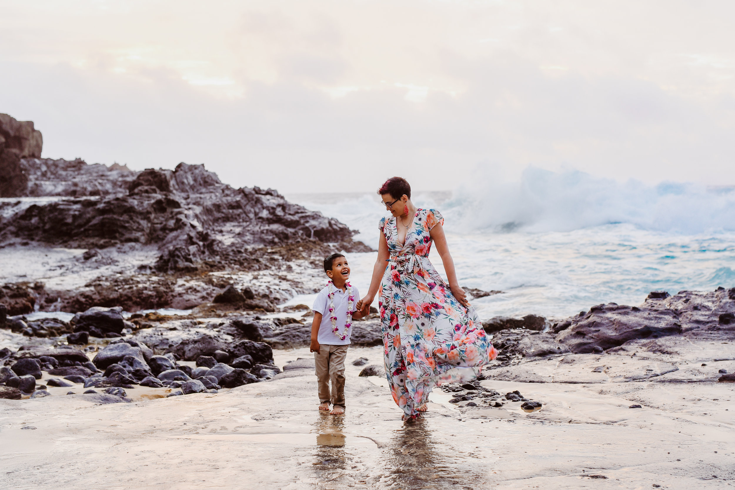 Ember and Graeme in Honolulu