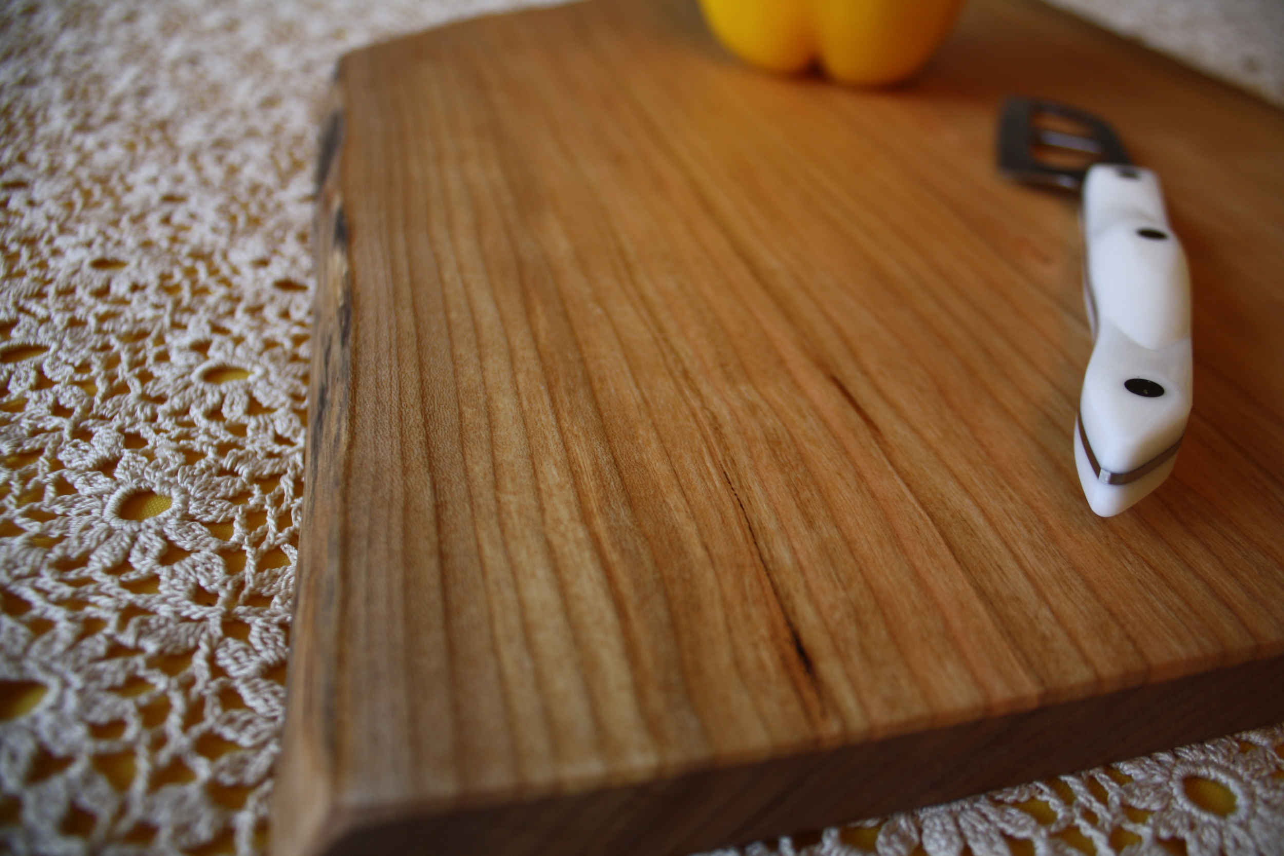 Beeswax & Mineral OIl finish on a cherry cutting board