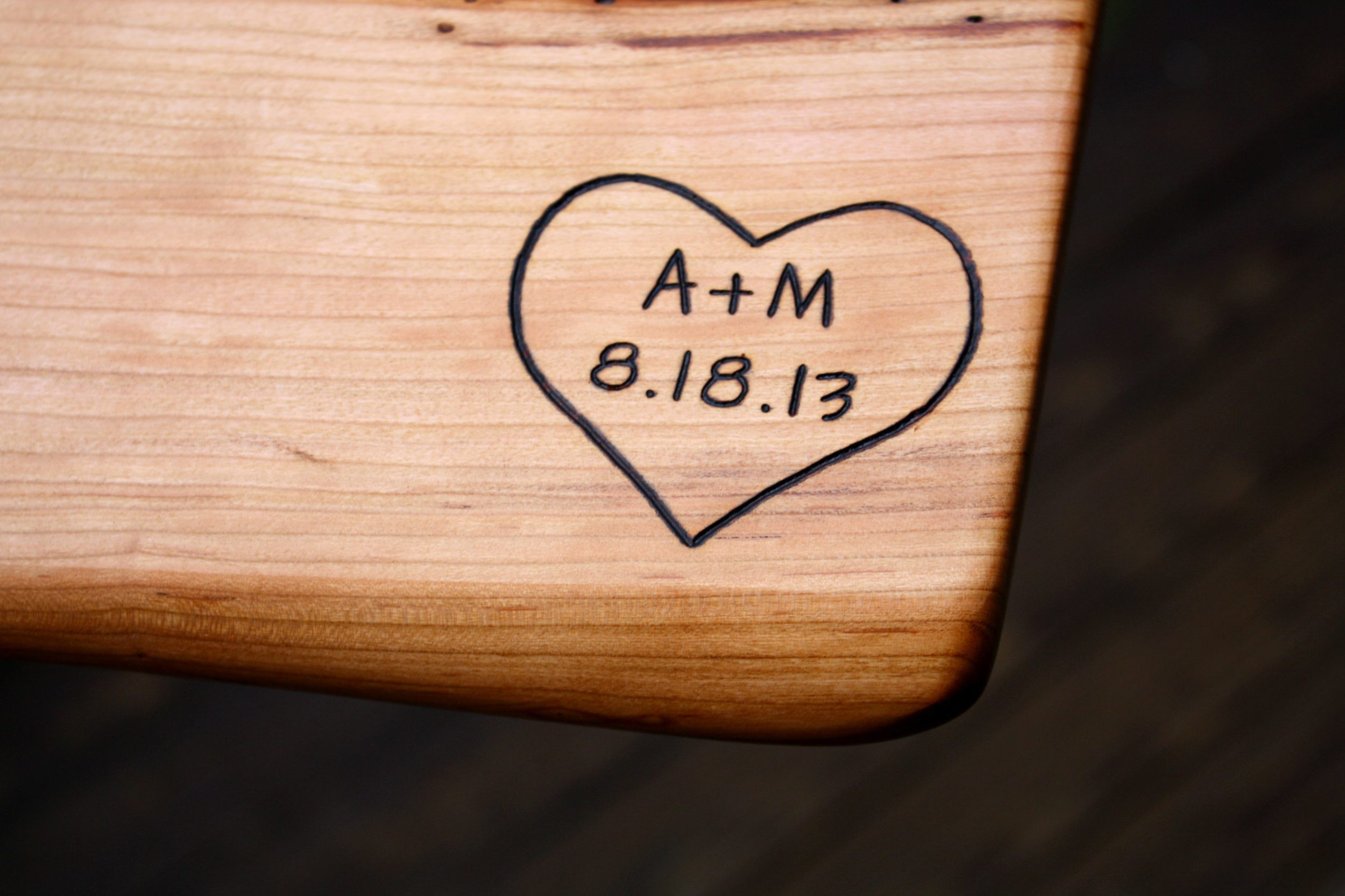 Heart engraving design