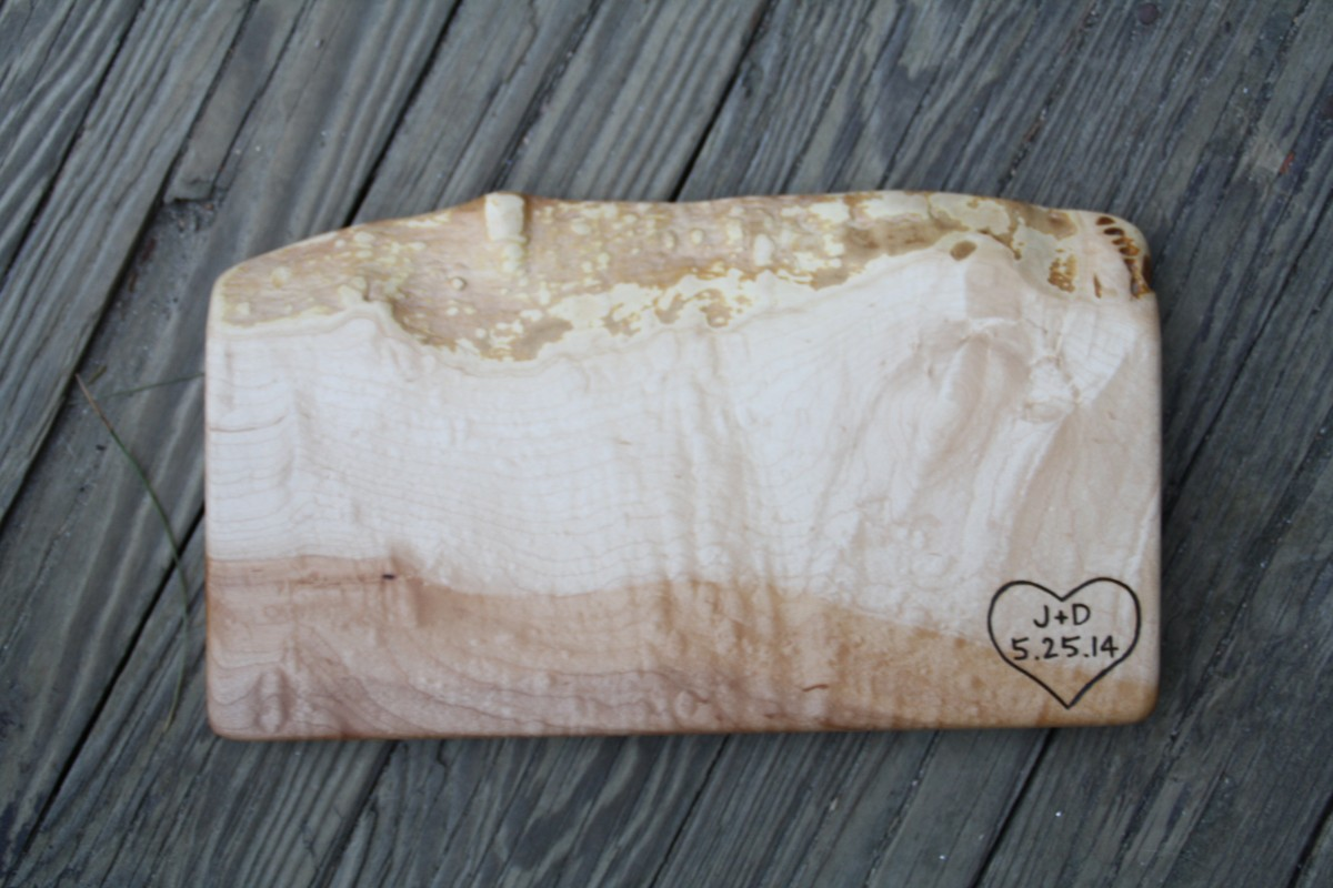 Quilted Maple- Hert with Initals