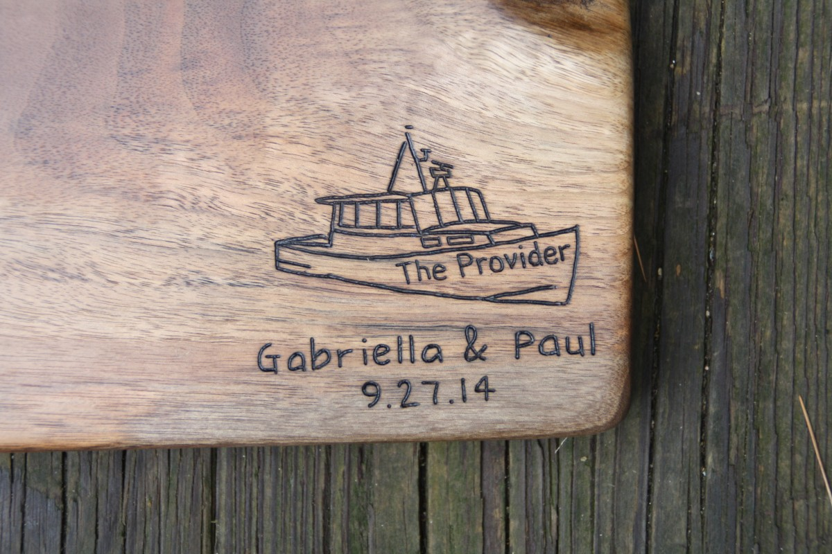 Custom Boat design with names and date