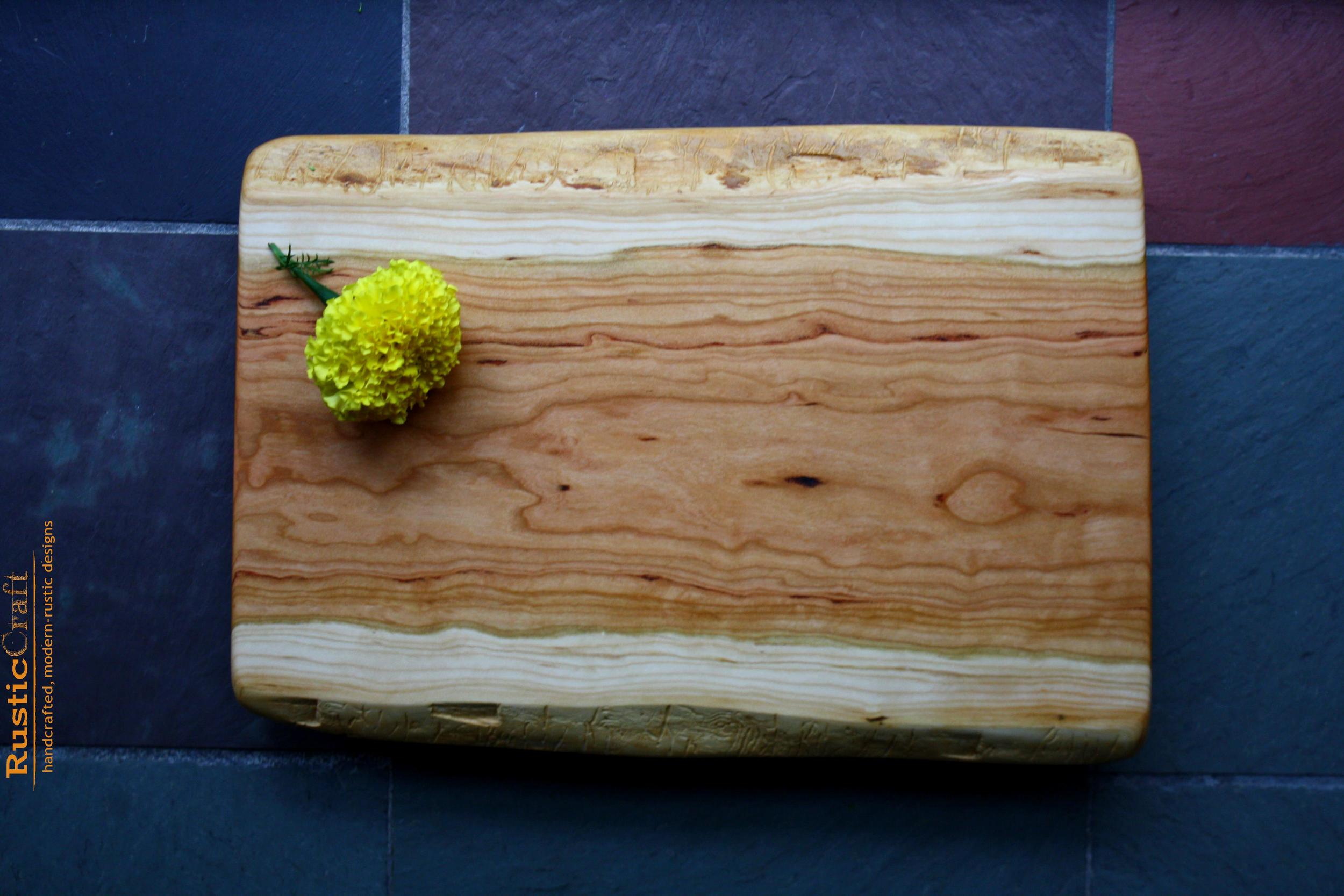 5th Anniversary Gift- Black Cherry Footed Cutting Board -Handcrafted Rustic Wedding Gift 407