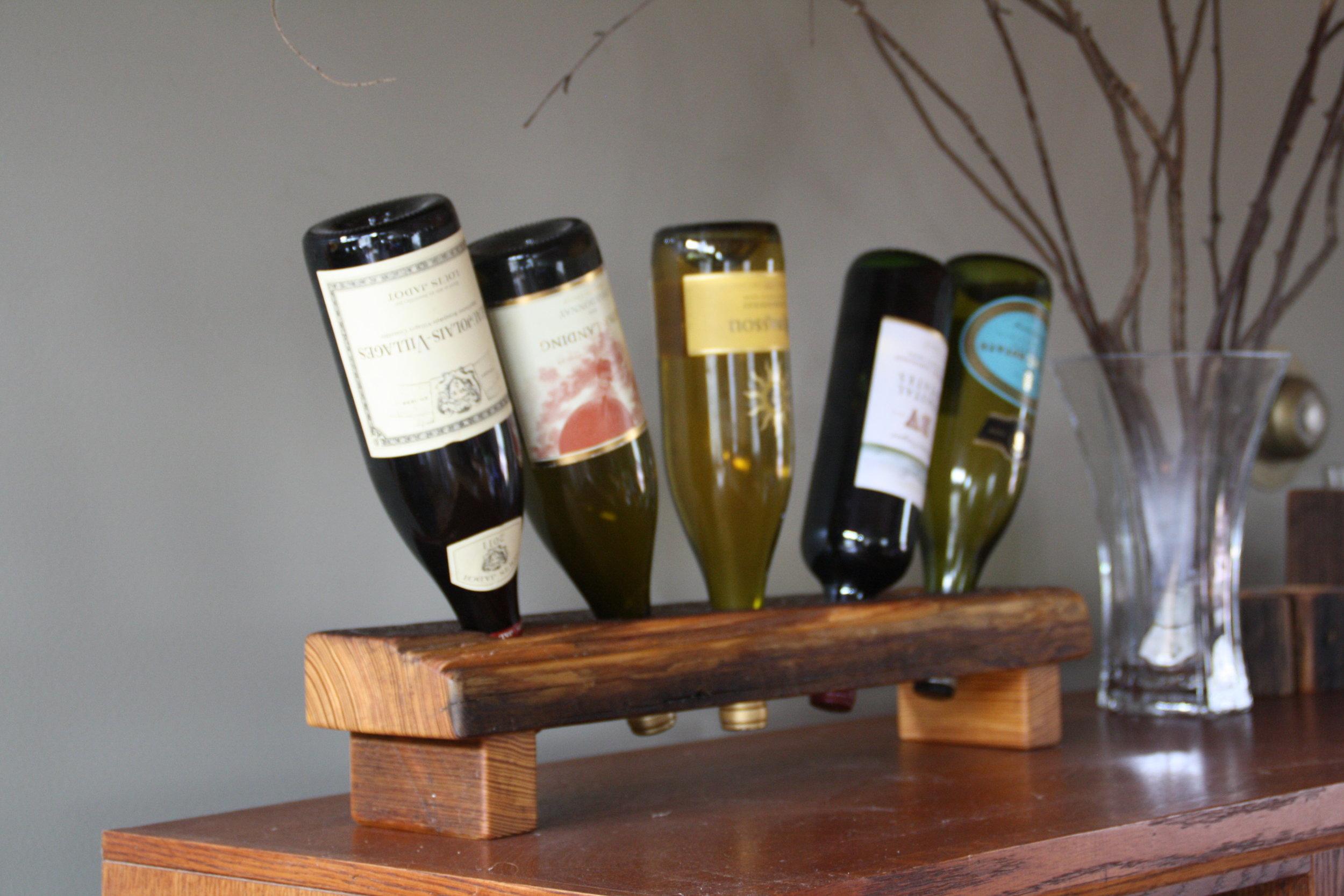 5 Bottle Wood Riddling Rack