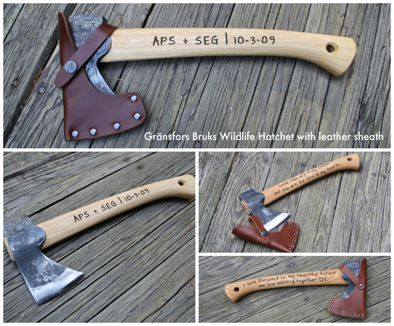 Set of 9 Personalized Hatchet Axes Groomsman for him With Rosewood Handle Groomsmen Gifts-Personalized Engraved Custom Axes for Men