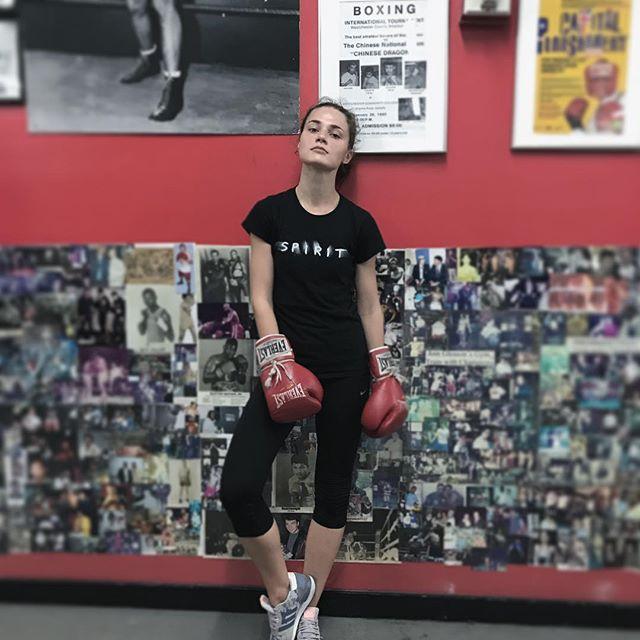 My new fighter @veranika_irbis 🥊