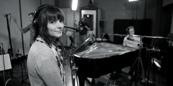 Recording our album at Psalter Studios.