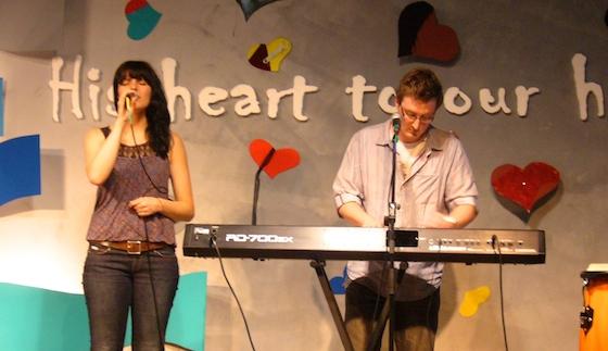 Singing at SQLD Big Camp.