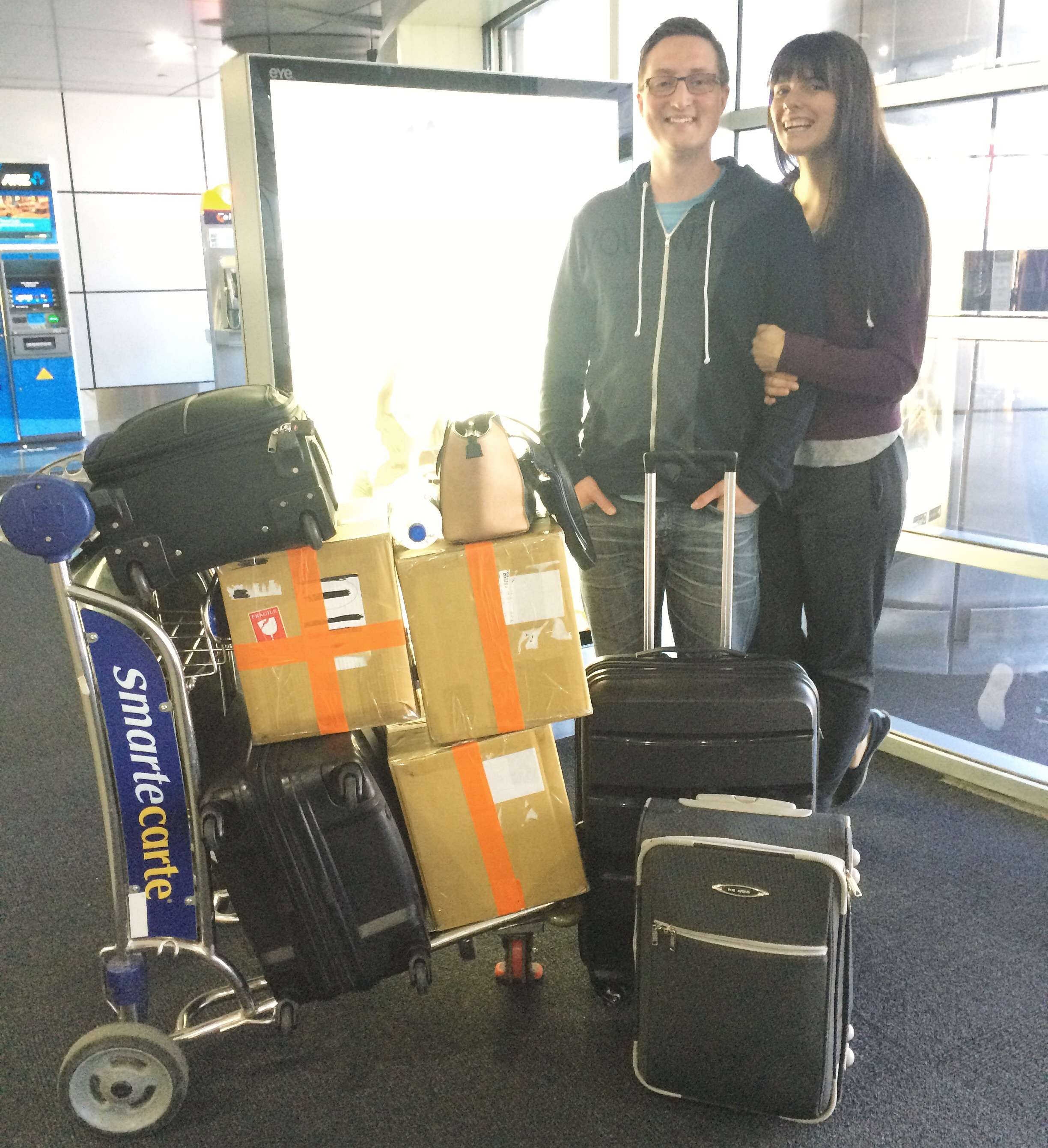 All of our gear at Melbourne International Airport.