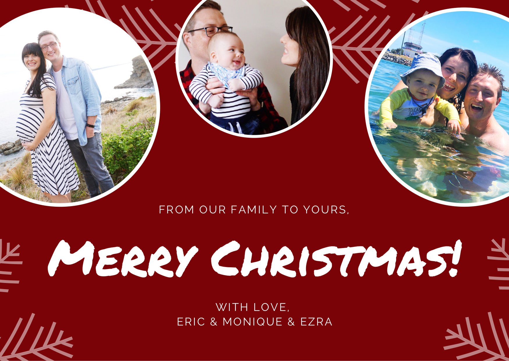 Merry Christmas from Eric & Monique