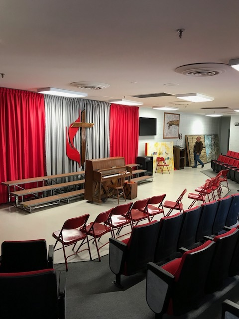 The chapel at their school. It's nice - and in this photo, it looks much nicer and fancier than anything else at the school!