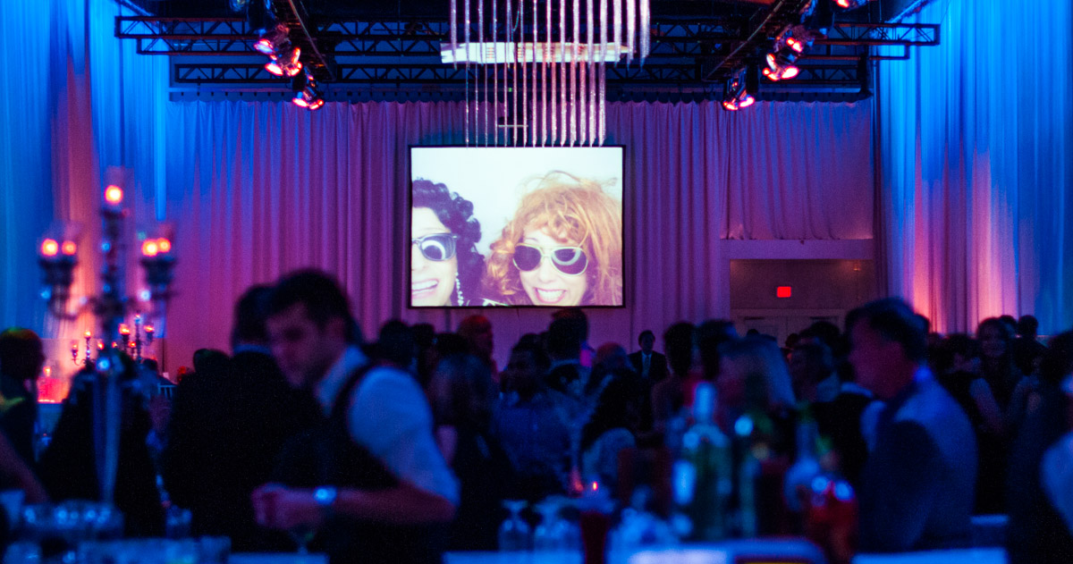 Liberty Grand Photo Booth Projection