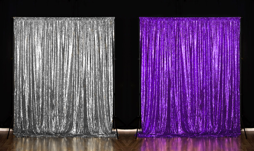 Silver and Purple Photo Booth Backdrops at our Toronto Location