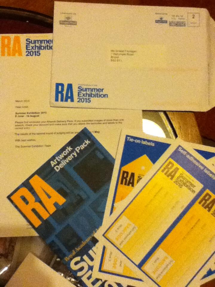 Ra shortlisted letter
