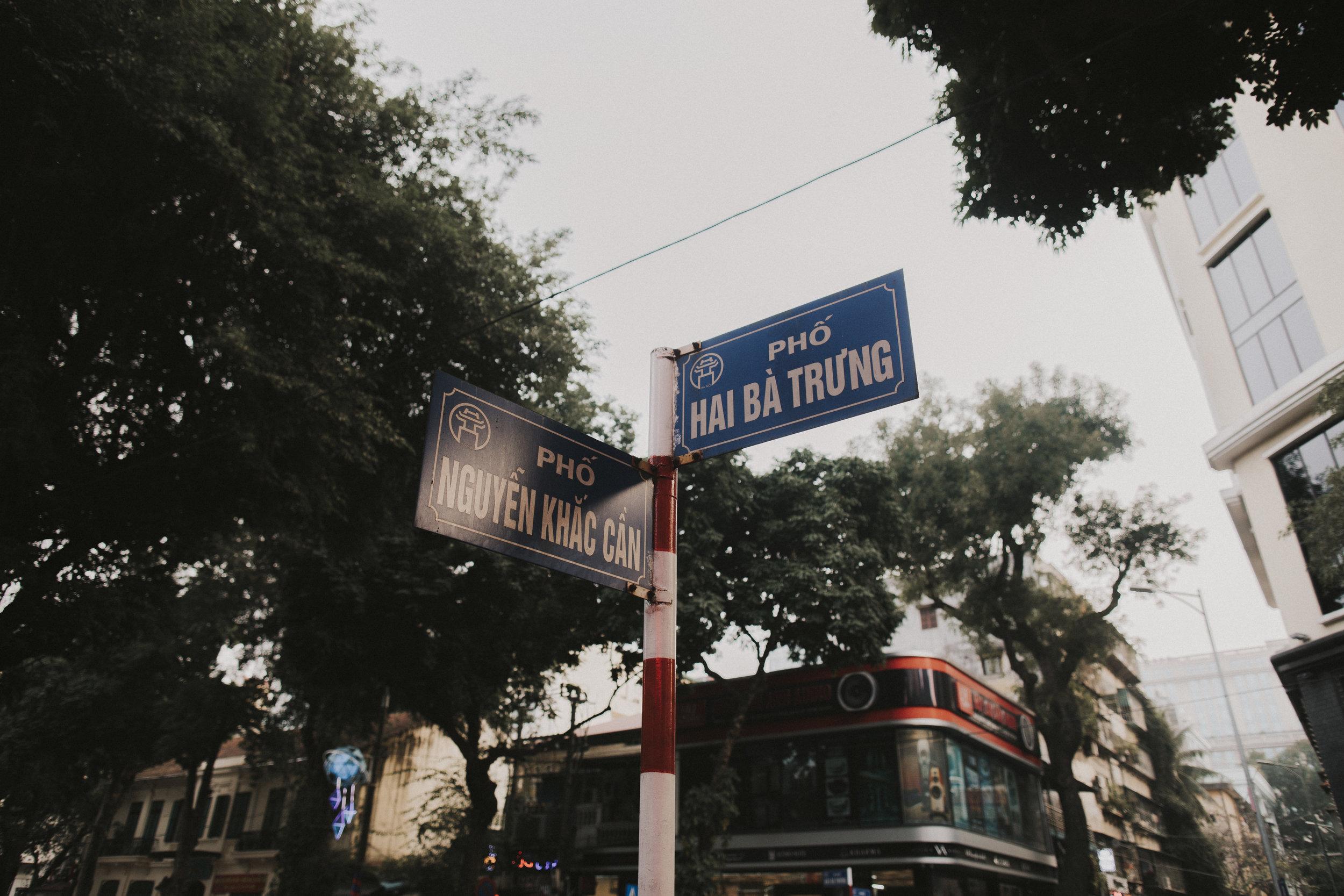 Crossroads in Hanoi