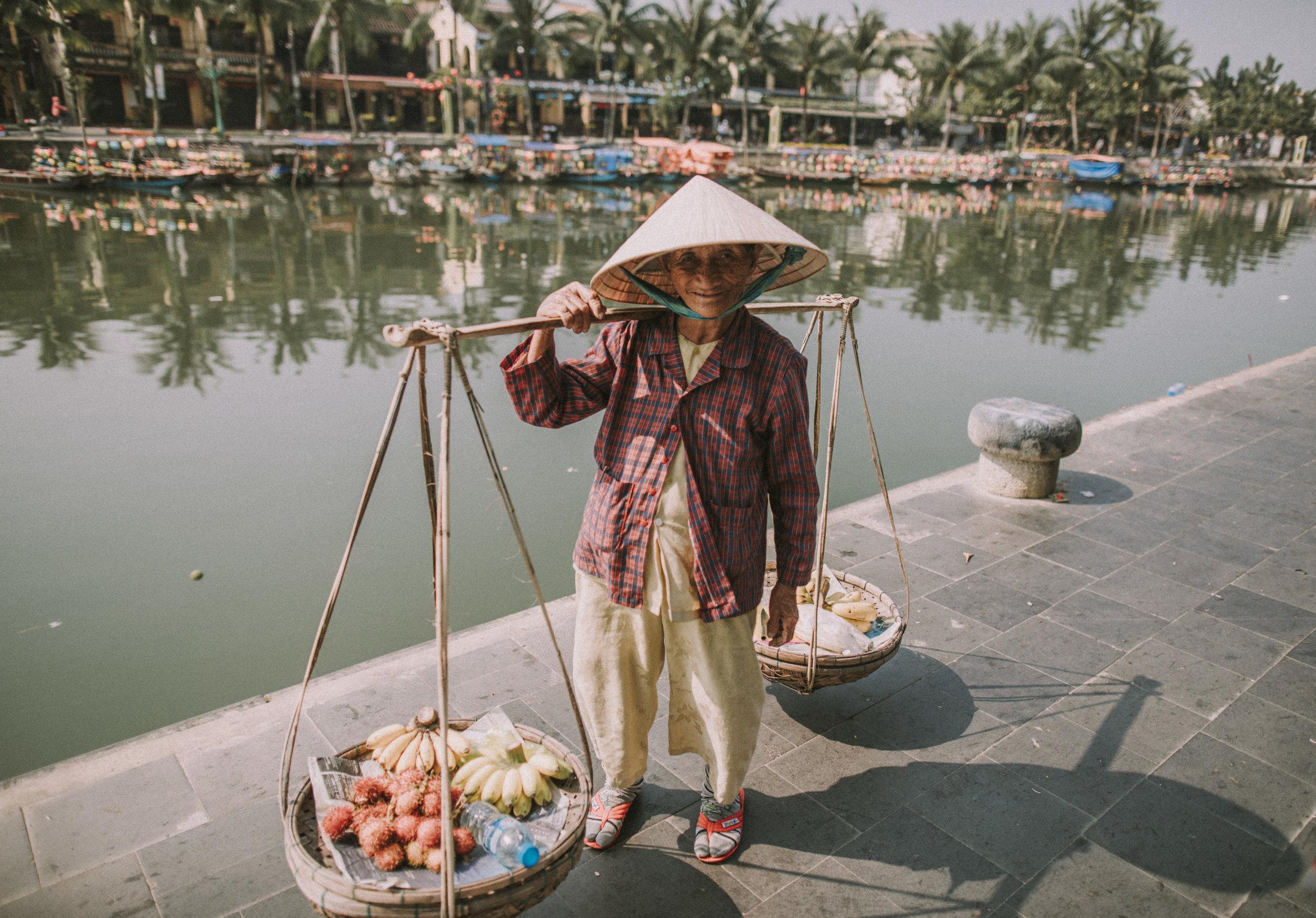 Local fruit seller in Hoi An