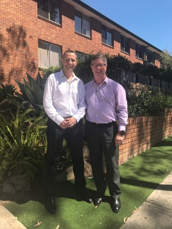 Richard Scenna, Co-Founder YourLink (Left) and Rob Oxford, CEO Hardi Aged Care (Right).