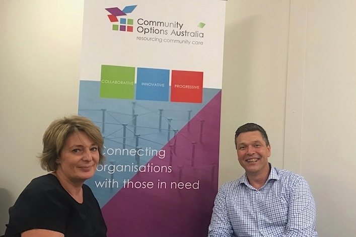 Jane Crowe, Executive Director, Community Options Australia and Rick Hollingworth, Co-Founder, YourLink.