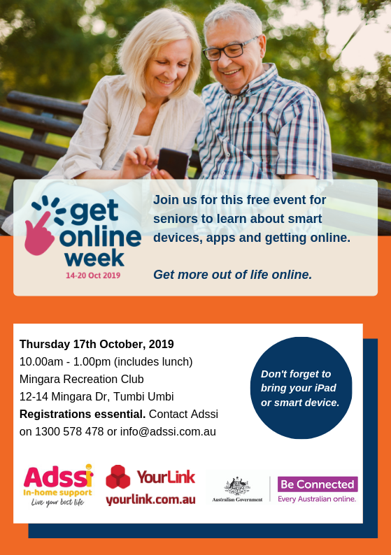 Get Online Week T&T - Mingara 17th October 2019 A5 Flyer.png