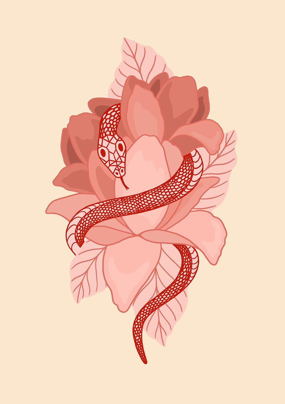 Snake & Flowers 2.jpg