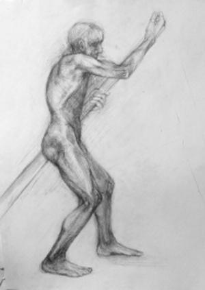 60 x 40 cm pencil on paper