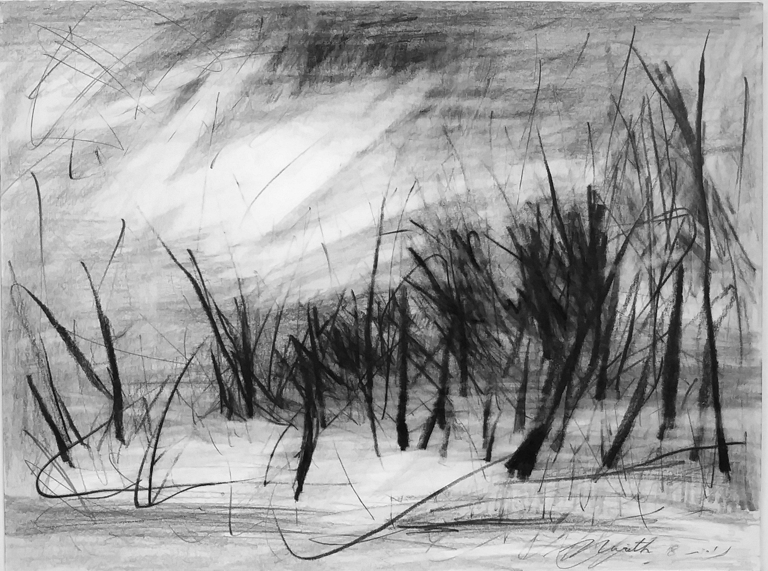 Pencil on paper 36.5 x 27 cm 3500 kr.